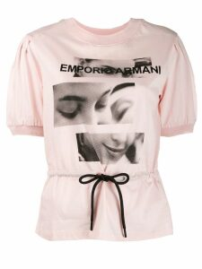 Emporio Armani graphic belted top - PINK