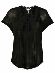 Isabel Marant string detail top - Black