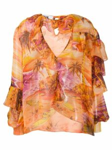 MSGM tropical blouse - Orange