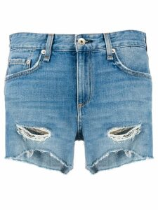 Rag & Bone distressed denim shorts - Blue