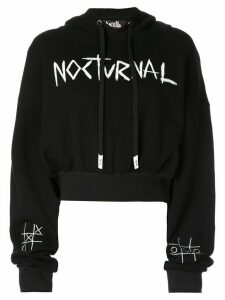 Haculla cropped hooded sweatshirt - Black