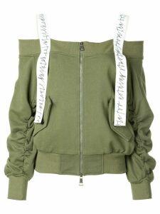 Haculla off the shoulder sweatshirt - Green