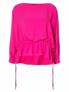 Josie Natori poet sleeve blouse - Pink