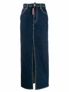 Dsquared2 long pencil denim skirt - Blue