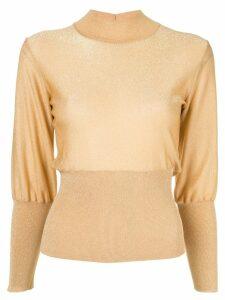 Emilio Pucci lurex sweater - Gold