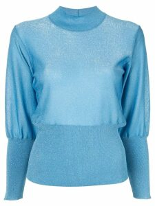 Emilio Pucci knitted lurex sweater - Blue