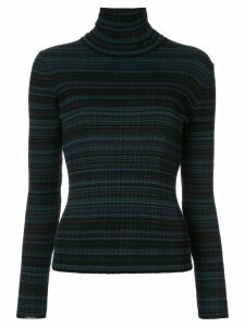 Nina Ricci slim ribbed turtleneck jumper - Black