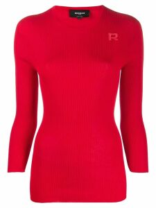 Rochas ribbed knit jumper - Red