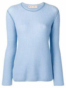 Marni light ribbed sweater - Blue