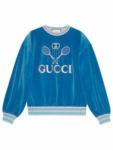 Gucci Sweatshirt with Gucci Tennis - Blue