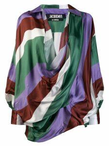 Jacquemus draped blouse - Green