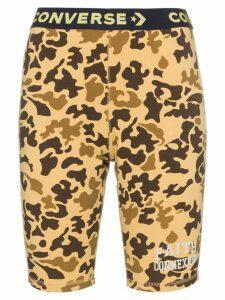 Converse X Faith Connexion camouflage bicycle shorts - Neutrals