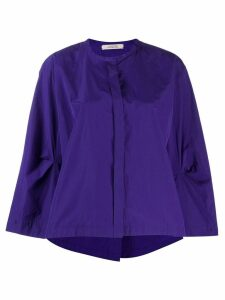 Dorothee Schumacher flare-styled blouse - PURPLE