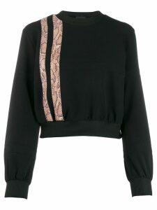 Just Cavalli snake effect stripe sweatshirt - Black