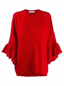 Valentino flounce sleeve jumper - Red