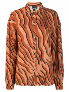 Just Cavalli tiger print shirt - Brown