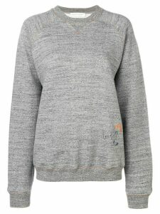 Victoria Beckham embroidered sweatshirt - Grey