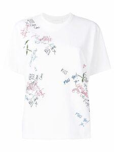Victoria Beckham graffiti T-shirt - White