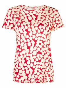 Proenza Schouler Painted Dot Short Sleeve T-Shirt - Red