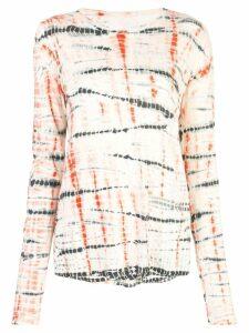 Proenza Schouler Tie Dye Long Sleeve T-Shirt - White
