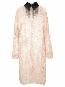 Christopher Kane sequin embroidered coat - PINK