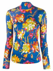 La Doublej floral knit turtleneck - Blue
