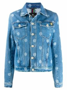 PS Paul Smith dotted print denim jacket - Blue