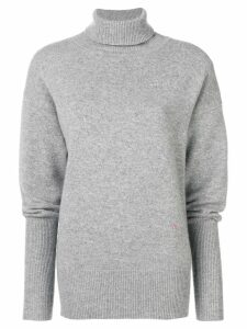 Victoria Beckham oversized polo neck jumper - Grey