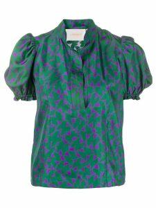 La Doublej x Mantero print blouse - Green