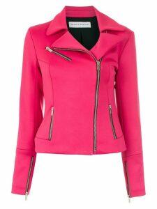 Gloria Coelho ziper details blazer - PINK