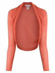 Mara Mac open front cropped cardigan - Orange