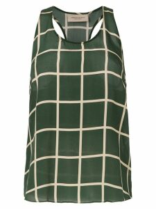 Adriana Degreas checkered top - Green