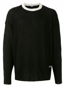 Àlg contrast neckline jumper - Black