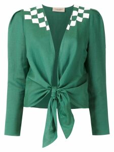 Adriana Degreas tie Wimblendon shirt - Green
