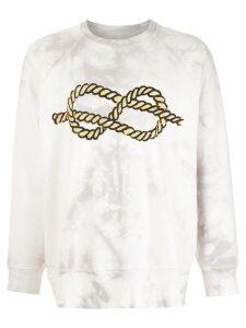 À La Garçonne À LA GARÇONNE + HERING knot sweatshirt - White