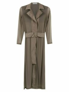 Mara Mac belted shirt dress - Brown
