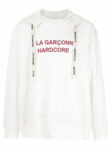 À La Garçonne Hardcore hoodie - White