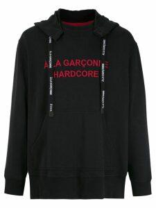À La Garçonne À LA GARÇONNE + HERING Hardcore hoodie - Black