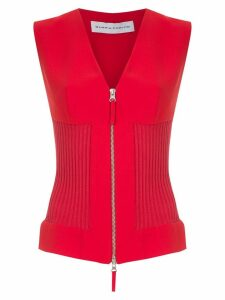 Gloria Coelho panelled blouse - Red
