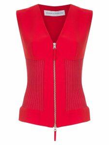 Gloria Coelho panelled blouse - Red