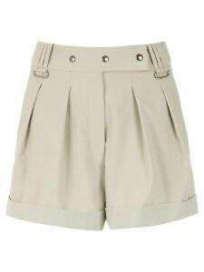 Gloria Coelho belted shorts - NEUTRALS