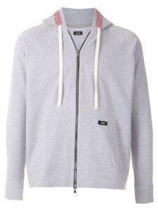 Àlg checkered trim hoodie - Grey