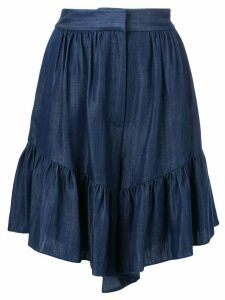 Tibi Draped shorts - Blue