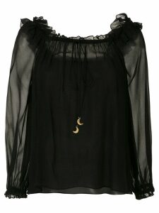 Nk ruffled silk blouse - Black