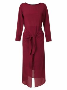 Magrella silk midi dress - Red