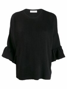 Valentino flared sleeve jumper - Black