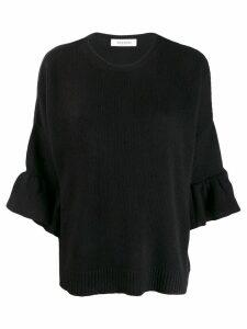 Valentino flared sleeve jumper - Black