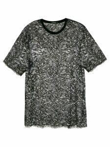 À La Garçonne oversized lace blouse - Black