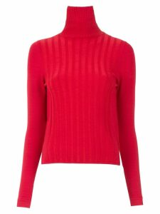 Gloria Coelho high neck knitted top - Red