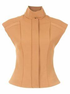 Gloria Coelho sleeveless structured top - Yellow
